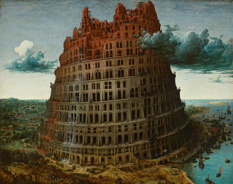 Pieter Bruegel The Elder The Tower Of Babel Rotterdam Yağlı Boya Sanat Kanvas Tablo