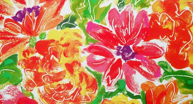 Pillow Desing Floral Sanat Kanvas Tablo