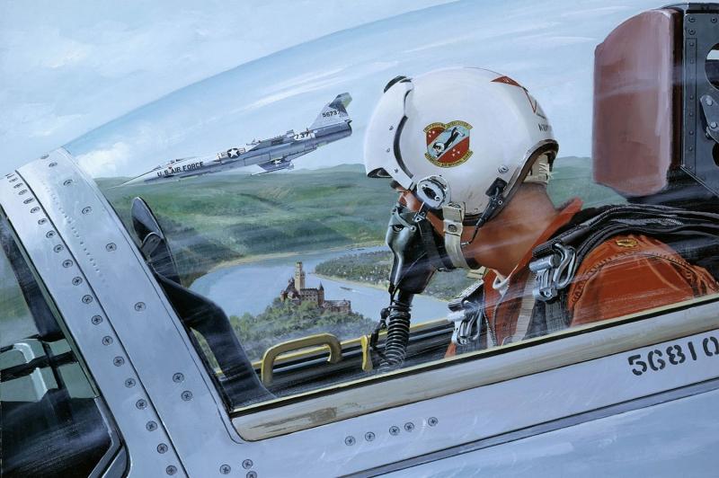 Pilot Kabini Yagli Boya Sanat Kanvas Tablo
