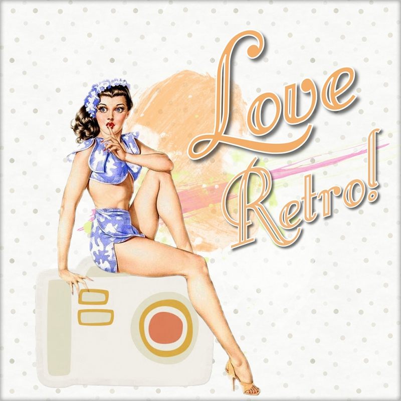 Pin Up Kızları 8 Retro & Motto Kanvas Tablo