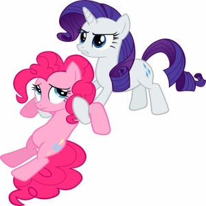 Pinkie Pie ve Rarity Pokemon Canvas Tablo Arttablo