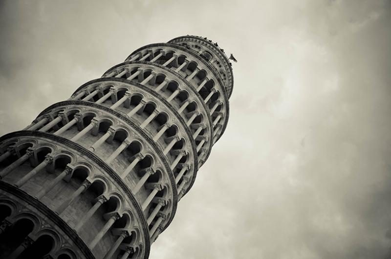 Pisa Kulesi Dünyaca Ünlü Şehirler Kanvas Tablo