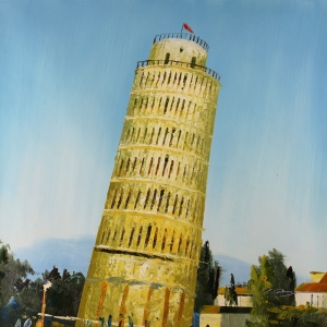 Pisa Kulesi, İtalya Dekoratif Kanvas Tablo