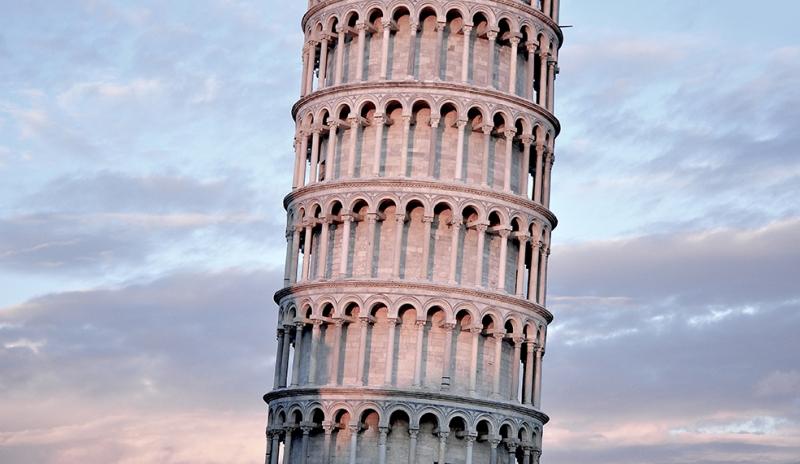 Pisa Kulesi İtalya Roma Şehir Manzarası Dünyaca Ünlü Şehirler Kanvas Tablo