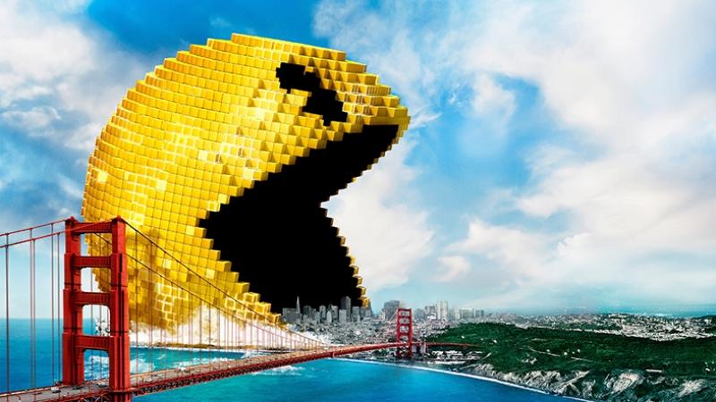 Pixels Pacman 3D Kanvas Tablo