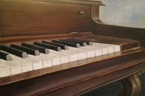 Piyano-5 Modern Sanat Kanvas Tablo