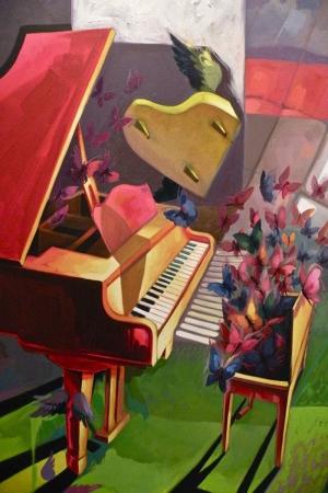 Piyano-7 Modern Sanat Kanvas Tablo