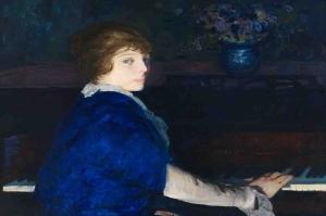 Piyano Çalan Kız, Emma Klasik Sanat Kanvas Tablo