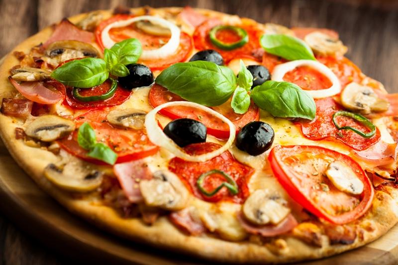 Pizza 5 Lezzetler Kanvas Tablo