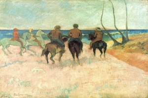 Plajdaki Biniciler Riders On The Beach Paul Gauguin Reproduksiyon Kanvas Tablo