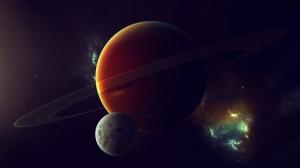 Pluton ve Evren Dünya & Uzay Kanvas Tablo