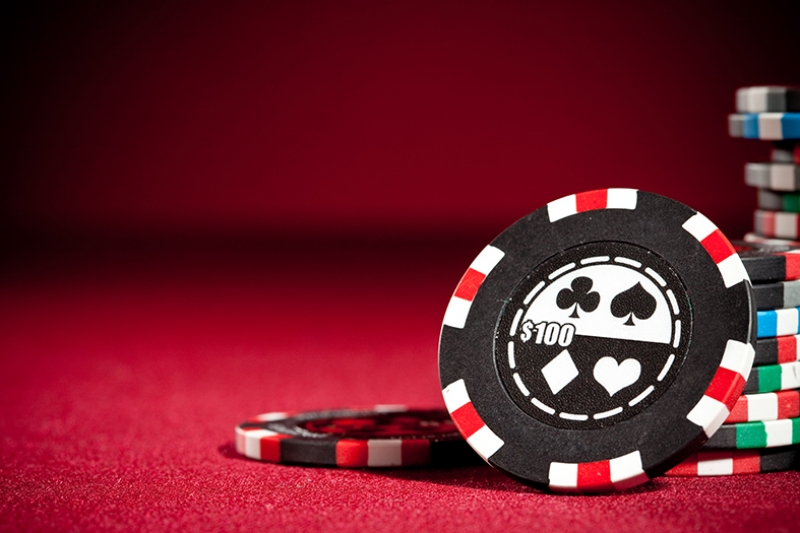Poker Chip Kumar Kanvas Tablo