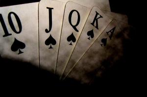 Poker Kağıtları-1 Fotoğraf Kanvas Tablo