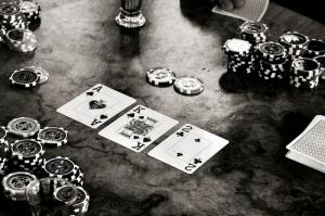Poker Masası, İskambil Kağıtları, Poker-1 Fotoğraf Dijital Fantastik Kanvas Tablo