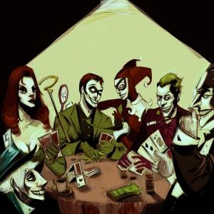 Poker Masasi Yagli Boya Sanat Kanvas Tablo