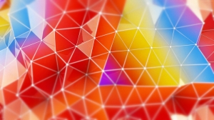 Polygon 3D Renkli Abstract Kanvas Tablo