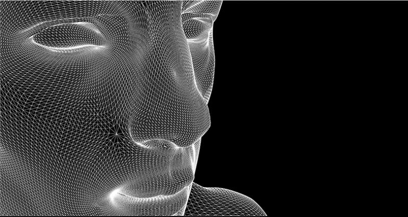 Polygon Yüz Abstract Dijital ve Fantastik Kanvas Tablo