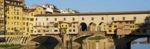 Ponte Vecchio Eski Köprü Floransa Tarihi  Yerler-12 Dünyaca Ünlü Şehirler Kanvas Tablo