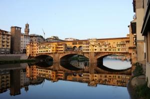 Ponte Vecchio, Eski Köprü Floransa Tarihi Yerler-15 Dünyaca Ünlü Şehirler Kanvas Tablo