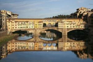 Ponte Vecchio, Eski Köprü Floransa Tarihi Yerler-16 Dünyaca Ünlü Şehirler Kanvas Tablo