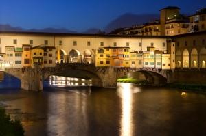 Ponte Vecchio, Eski Köprü Floransa Tarihi Yerler-19 Dünyaca Ünlü Şehirler Kanvas Tablo