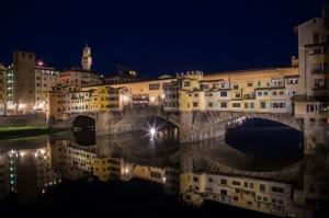 Ponte Vecchio, Eski Köprü Floransa Tarihi Yerler-21 Dünyaca Ünlü Şehirler Kanvas Tablo