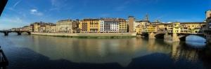 Ponte Vecchio Eski Köprü Floransa Tarihi Yerler-6 Dünyaca Ünlü Şehirler Kanvas Tablo