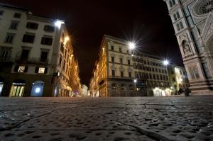 Ponte Vecchio Foransa, İtalya Sokak Manzarası, Şehir Manzaraları Kanvas Tablo