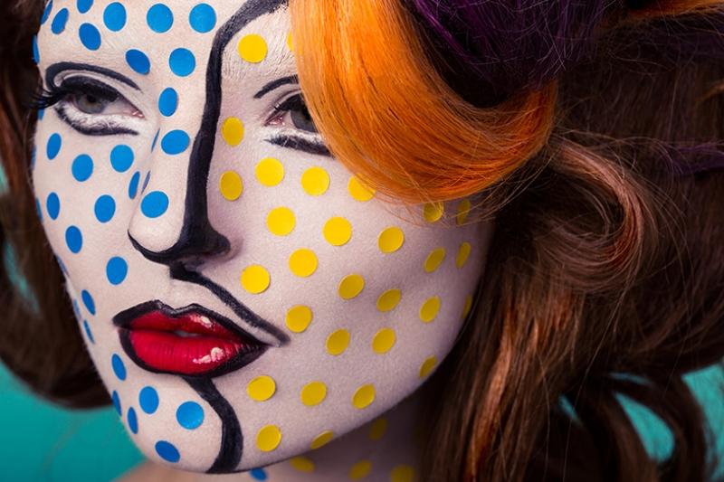 Pop Kadın Fotoğraf Kanvas Tablo