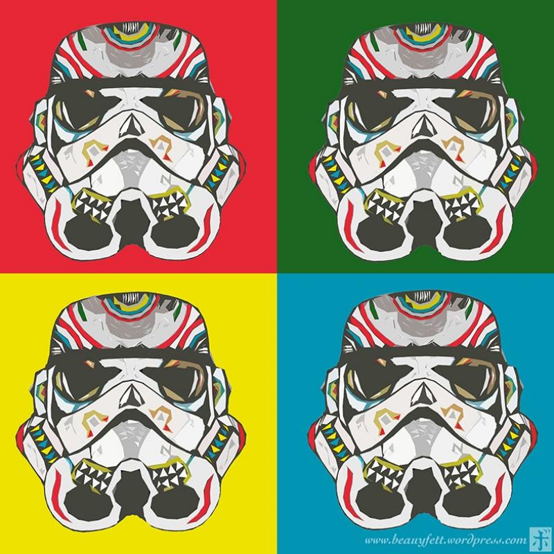 Popart Stormtrooper Star Wars Kanvas Tablo