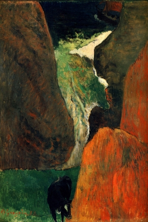 Porsac Kayalıklarındaki İnek Cow On The Porsac H Cliffs Paul Gauguin Reproduksiyon Kanvas Tablo