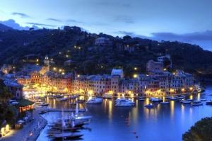 Porto Fino Limani Genova İtalya Şehir Manzaraları Kanvas Tablo