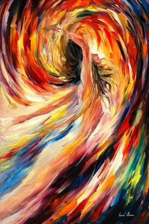 Portre Nu, Afremov, İç Mekan Dekoratif Modern Kanvas Tablo