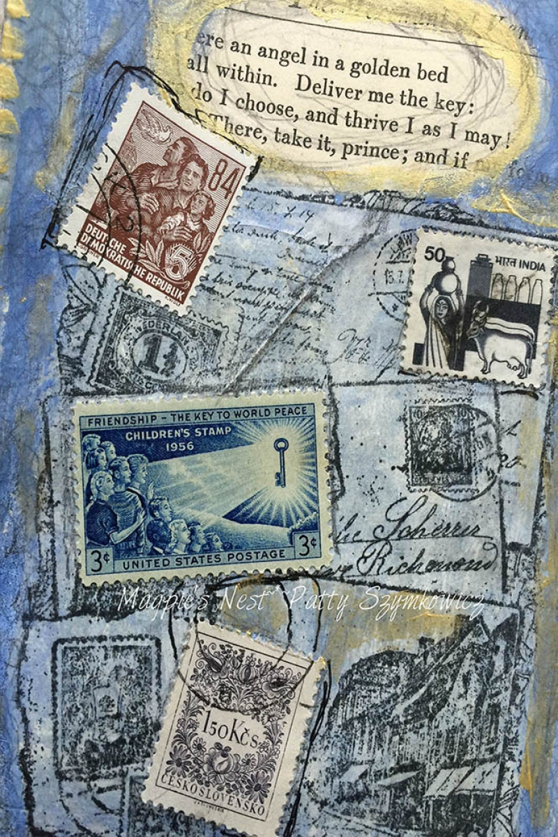 Posta Pulları Sanatsal Bakış Modern Sanat Kanvas Tablo