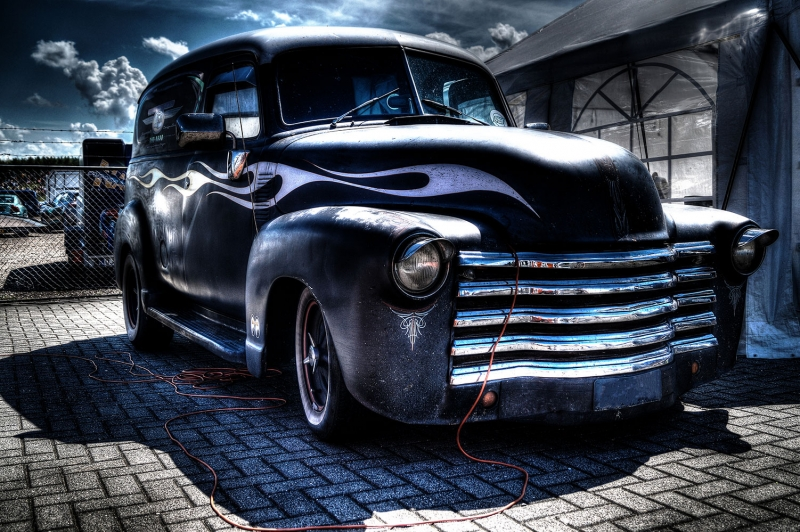 Poster Fotograf Klasik Otomobiller 1 Eski Efsane Arabalar Kanvas Tablo
