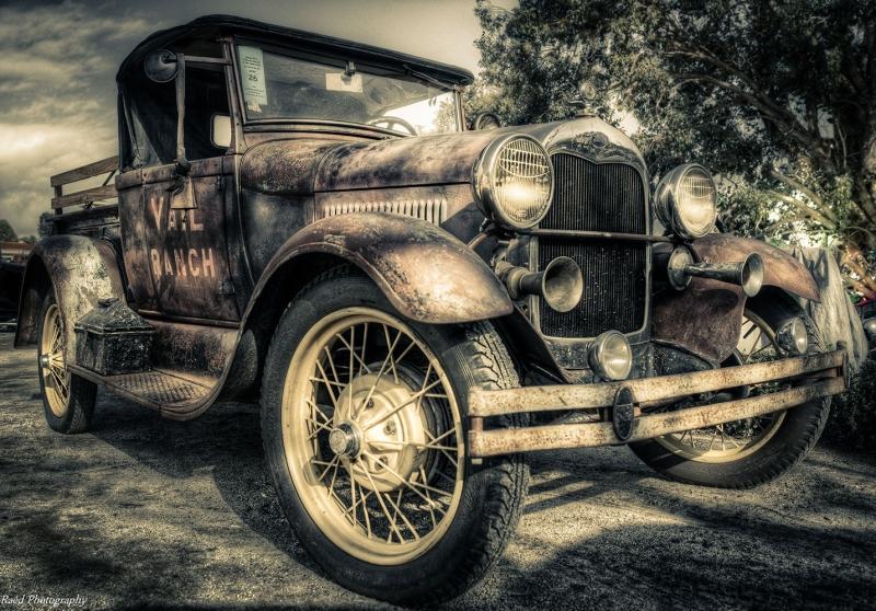 Poster Fotograf Klasik Otomobiller 2 Eski Efsane Arabalar Kanvas Tablo