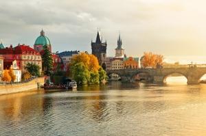 Prag Manzarası Dünyaca Ünlü Şehirler Kanvas Tablo