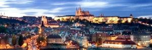 Prag Şehir Manzarası Çek Cumhuriyeti-10 Charles Köprüsü Dünyaca Ünlü Şehirler Kanvas Tablo