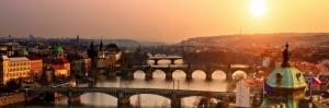 Prag Şehir Manzarası Çek Cumhuriyeti-20 Charles Köprüsü Dünyaca Ünlü Şehirler Kanvas Tablo