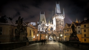 Prag Unesco Dünya Kültür Mirasları Kanvas Tablo