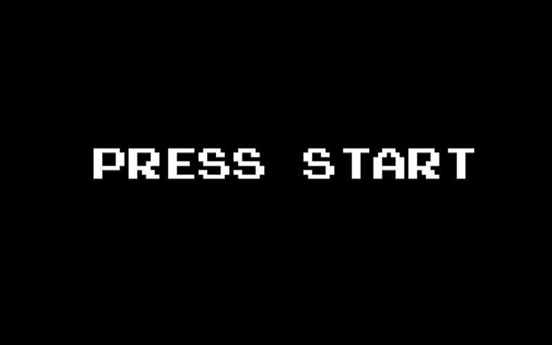 Press Start Popüler Kültür Kanvas Tablo