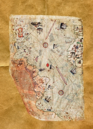 Pri Reis Dünya Haritası 1513 Kanvas Tablo