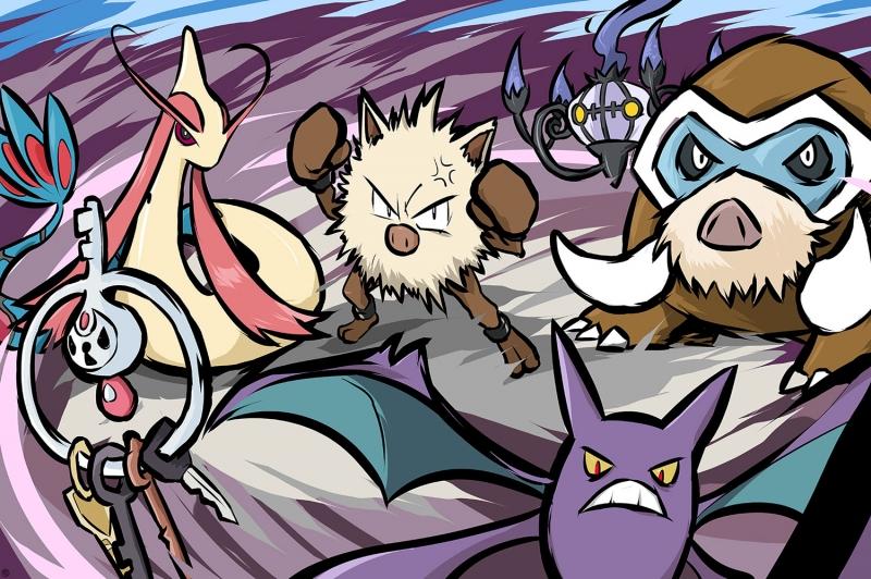 Primeape Krabby Gyarados Pokemon Karakterleri Kanvas Tablo
