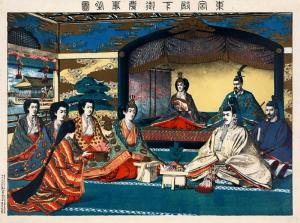 Prince Yoshihito Japon Sanatı Yağlı Boya Sanat Kanvas Tablo