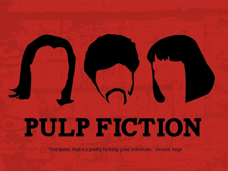 Pulp Fiction Popüler Kültür Kanvas Tablo