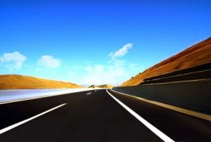 Pürüzsüz Asfalt Yol Hız 2 Fotoğraf Kanvas Tablo