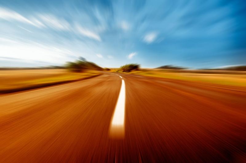 Pürüzsüz Asfalt Yol Hız 3 Fotoğraf Kanvas Tablo