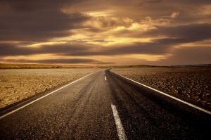 Pürüzsüz Asfalt Yol Hız 4 Fotoğraf Kanvas Tablo
