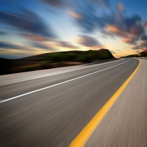 Pürüzsüz Asfalt Yol Hız 6 Fotoğraf Kanvas Tablo