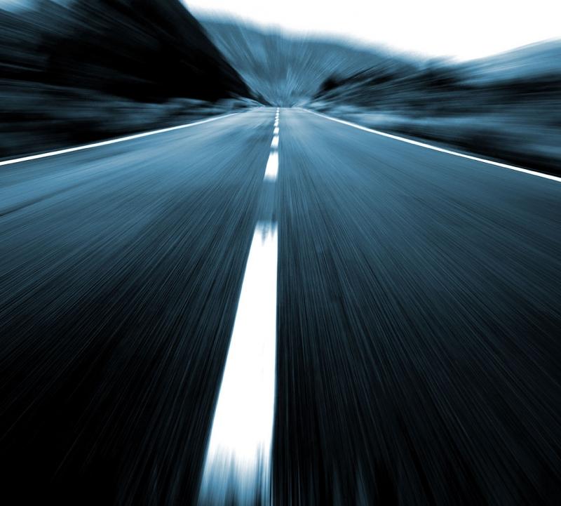 Pürüzsüz Asfalt Yol Hız 7 Fotoğraf Kanvas Tablo